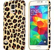 Motif léopard cuir enduit Housse dur pour Samsung Galaxy S5