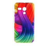 Kinston Color Ribbon Pattern Plastic Hard Case for Motorala Moto G