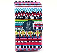 Hakuna Matata Tribal Carpet Pattern PU Leather Full Body Case with Card Slot Stand for Moto G