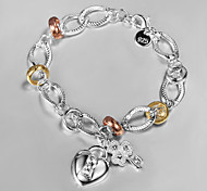 New Style Fashion Europe-Style 22cm Silvery Alloy Charm Bracelet(1 Pc)