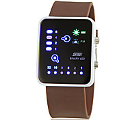 Men's Creative Binary Display LED Digital Silicone Band Wrist Watch (Assorted Colors)