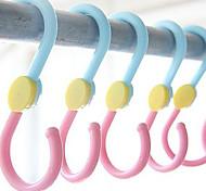 Special Design Rotatable S Shape Hook(Random Color,3 PCS)
