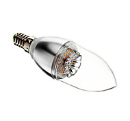3W E14 Luces LED en Vela 30 SMD 3014 60-200 lm Blanco Cálido Regulable AC 100-240 V