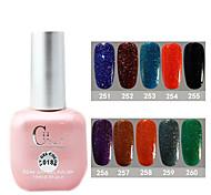 1PCS CH Soak-off Pink Bottle Astral Glitter UV Color Gel Polish NO.A01-A10(15ml,Assorted Color)
