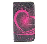 Kinston Heart Of The Art Pattern PU Leather Case cuerpo completo con soporte para iPhone 4/4S