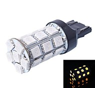 T20 6W 540LM 27x5050 SMD Yellow LED for Car Brake Light (DC12V, 1Pcs)
