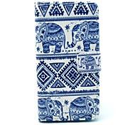 Слон Племенной Pattern ковров PU кожаный чехол всего тела с подставкой и карты держатель для HTC Desire 500