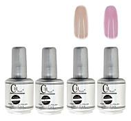 4PCS CH Silver Bottle Soak-off UV Gel Set Top Coat+Base Gel+2 UV Color Builder Gel(No.31-32,15ml)