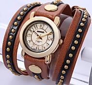 Time100 Lady's Fashional Cool Long-strap Series Rivet Dress Quartz Watch
