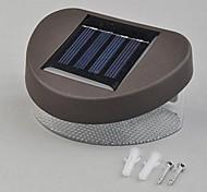 Chemin LED 2 LED Power Plastic Blanc de mur solaire Paysage Mont Clôture de jardin lampe de lumière