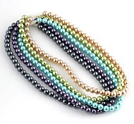 Women's Nobility Style Pearl Pattern Plastic Necklace 1pc