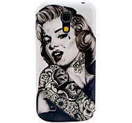 Tattoo Girl Pattern Hard Back Cover Case for Samsung Galaxy S4 Mini I9190