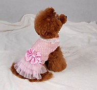 Summer Cotton Dresses for Dogs Pink XS / S / M / L / XL