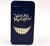 An Evil Mad Smile Pattern Hard Cover Case for iPhone 4/4S