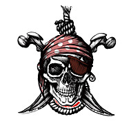 The Pirate Skull Pattern Decorative Car Sticker