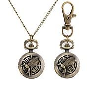Frau Retro-Muster Cuspirostrisornis Metallic Halskette Uhr (1 St.)