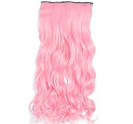 Light Pink Clip in Hari Extensions Long Wavy Hairpieces