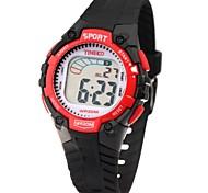 Time100 Kid'sColorful LCD Dial PU Band Display Mutifunctional Waterproof Electronic Sport Watch