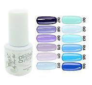 yemannvyou®sequins uv Farb GelNagellack no.61-72 (5 ml, farblich sortiert)