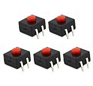 MaiTech 04010091 12 x 12 x 9,5 mm Leiterplattentaster (5 Stück)
