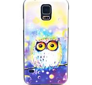 Für Samsung Galaxy Hülle Muster Hülle Rückseitenabdeckung Hülle Eule PC Samsung S5