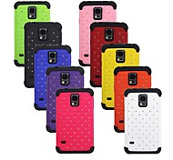 Angibabe Hybrid Diamond Hard Case Cover + Soft Silicone Case for Samsung Galaxy S5 G900/ I9600