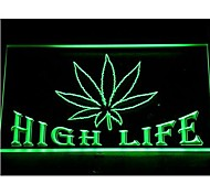 Free the Weed Marijuana High Life LED Light Sign