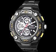 Multi-Funcional Dual Time Zones Rubber Band Sporty relógio de pulso dos homens (cores sortidas)