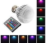 E26/E27 3 W 1 High Power LED 240 LM RGB Globe Bulbs AC 220-240 V