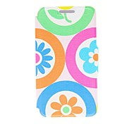 Kinston Colorful Cartoon Flowers Pattern PU Leather Full Body Case with Stand for LG G3