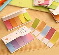 Gradient Rainbow Color Double Sides Self Stick Note