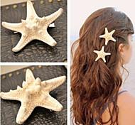 shixin® европейский облик звезды белые каури заколки для женщин (размер ramdon) (1 шт)
