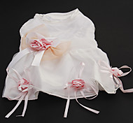 Elegant Rose Bow Decorated Wedding Dress for Pets Dogs (Assorted Sizes)