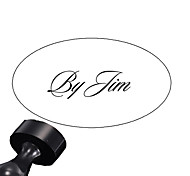 Personalized 30x40mm Wedding & Business Soft Font Style Oval Carved Resin Signet Name Stamp(within 10 English Letters)
