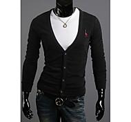 Semplice Contrast da uomo di colore splicing libero Raglan Long Sleeve Cardigan