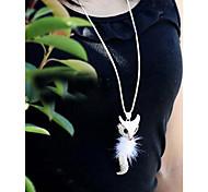 Fox de diamant de chaîne de chandail longue robe accessoires collier pendentif
