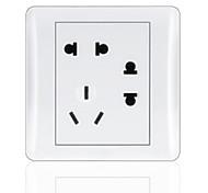 3-Pin And Double 2-Pin Durable Plug Socket