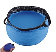 Outdoor Sports Foldable Nylon Wash Basin-Blue (10L)