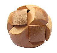 Wooden IQ Brain Teasr Ball Shaped Pull-Apart IQ Puzzle Magic Cube
