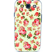 Pretty Rose Flower Pattern Hard Back Case Cover for Samsung Galaxy S3 I9300