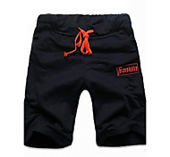 Men's Print Casual / Sport Shorts / Sweatpants,Cotton Blend Blue