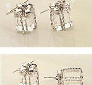 Acrylic Gift Bow  Drop Earring