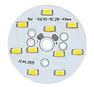 Módulo de lámpara de luz LED Warm C123456 5W 550lm 3500K 10-SMD 5630 LED - (10-12V)
