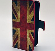 Retro UK Flag Pattern PU Leather Case with Card Slot and Matte PC Back Cover for iPhone 4/4S
