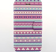 Purple National Wind Patterns PU Leather Full Body Case with Card Slot for iPhone 4/4S
