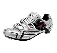 TIEBAO Unisex Silver+Black High Holding Power Road Bike Cycling Shoes