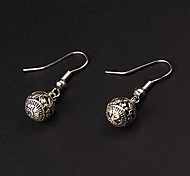 Cute Ball Silver Alloy Earrings(1 Pair)