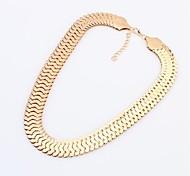 Женская Европа Уникальный Мода Толстые Металл ожерелье