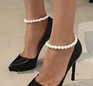Shixin® Fashion Handmade Pearl Elasticity Anklet(Blue,Dark-blue,White,Pink,Purple)(1 Pc)