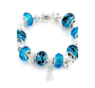 Sweet 6.3cm Women's blue Crystal Strand Bracelet (1 Pc)